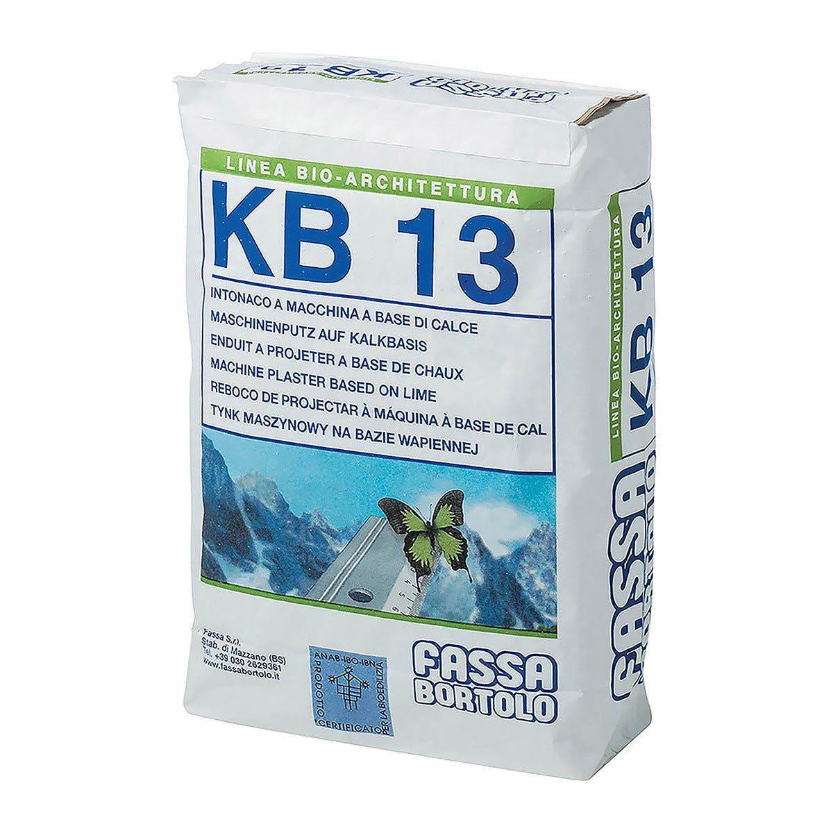 Bio-Intonaco Di Fondo Base Calce Kb13 Interni Ed Esterni 25 Kg Effetto Marmorino