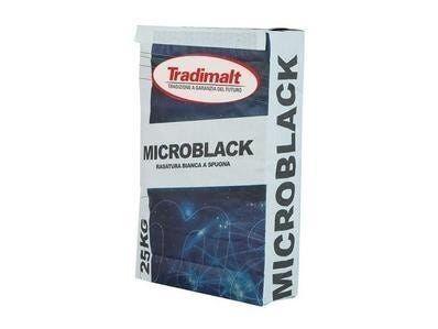 Finitura Microblack Tradimalt 25 Kg A Grana Fine 0,5 Mm Max Bianca A Spugna