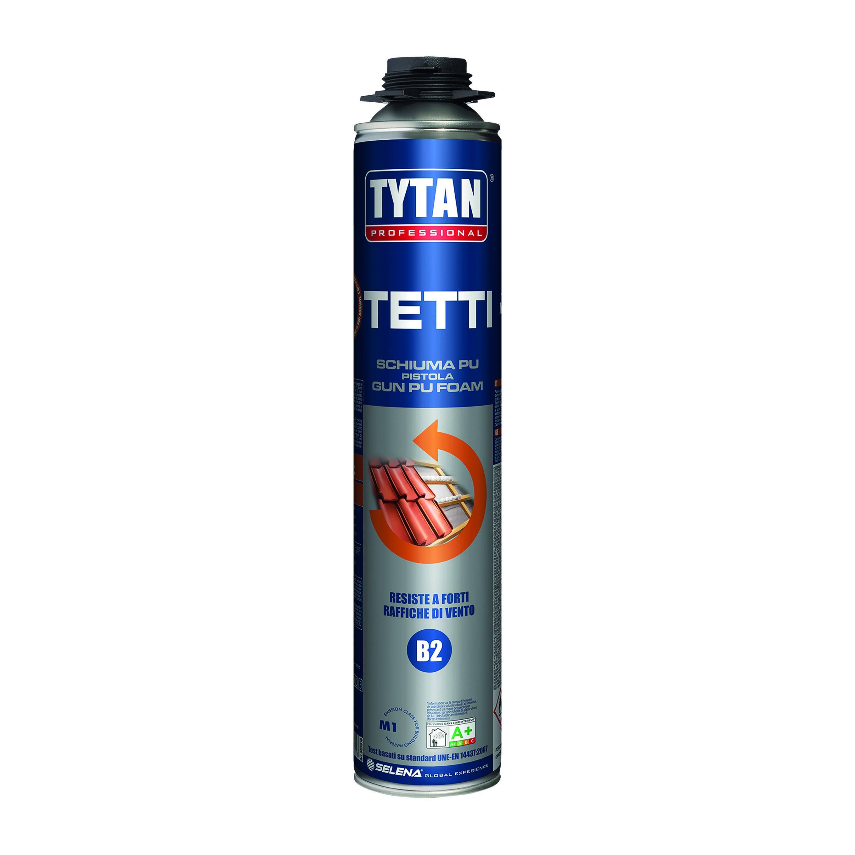 Schiuma Poliuretanica Tytan Tetti 750ml Per Pistola Per Tegole E Coppi