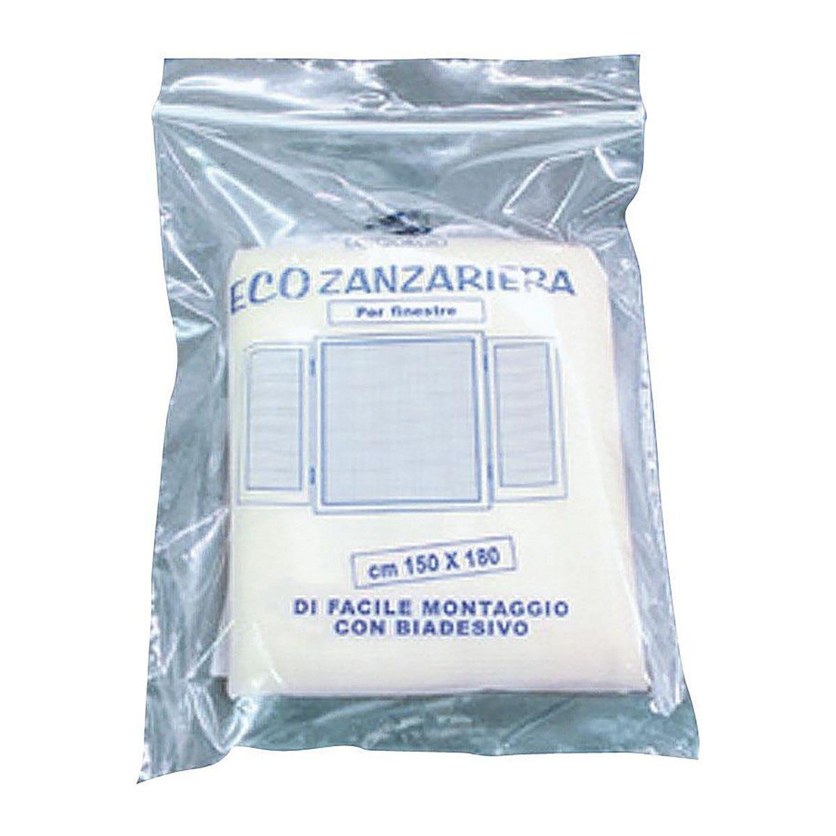 Zanzariera 180x150 Cm Con Velcro Colore Bianco