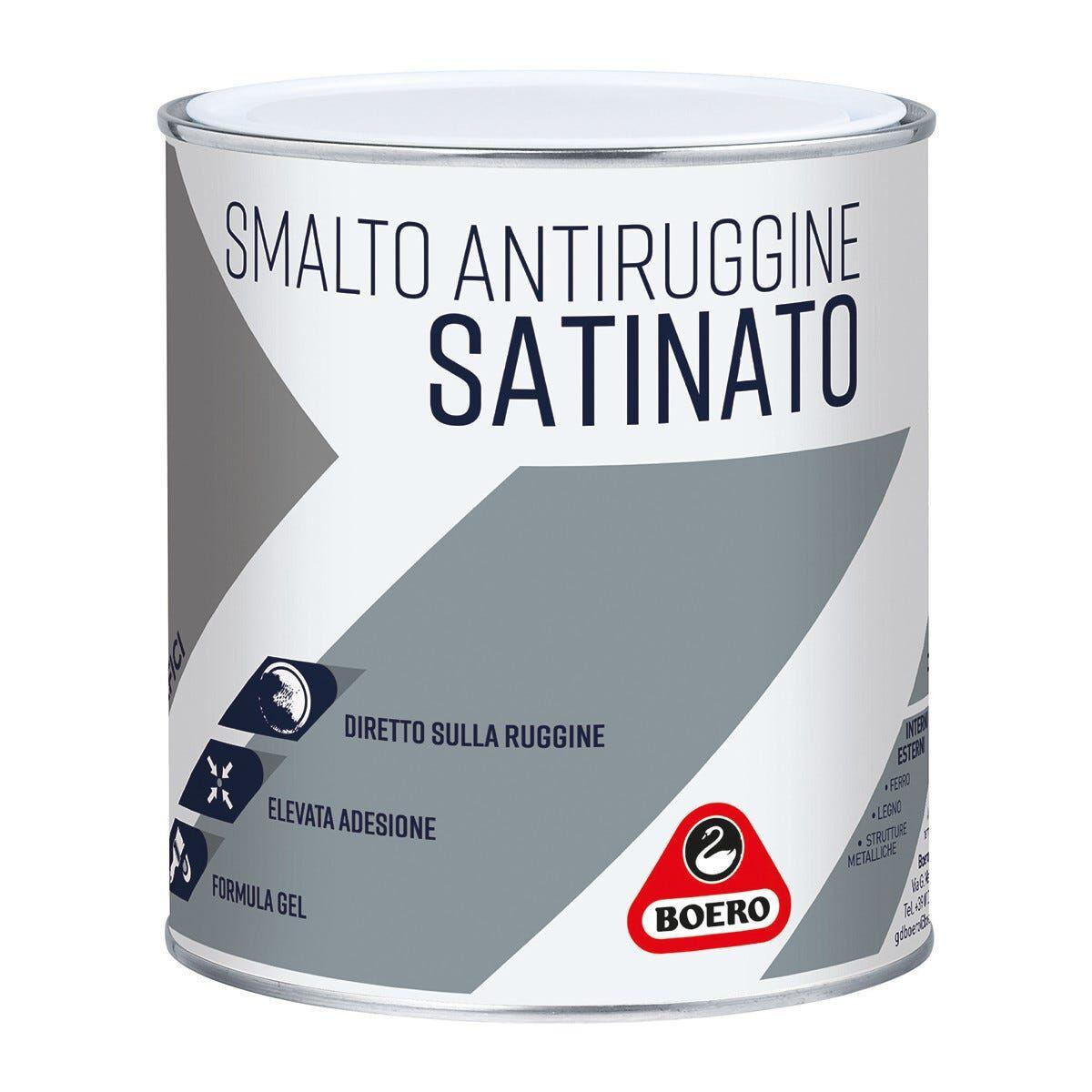 BOERO Smalto Antiruggine Gel Satinato Bianco 2,5 L 10-12 M² X 1 L Pronto Uso