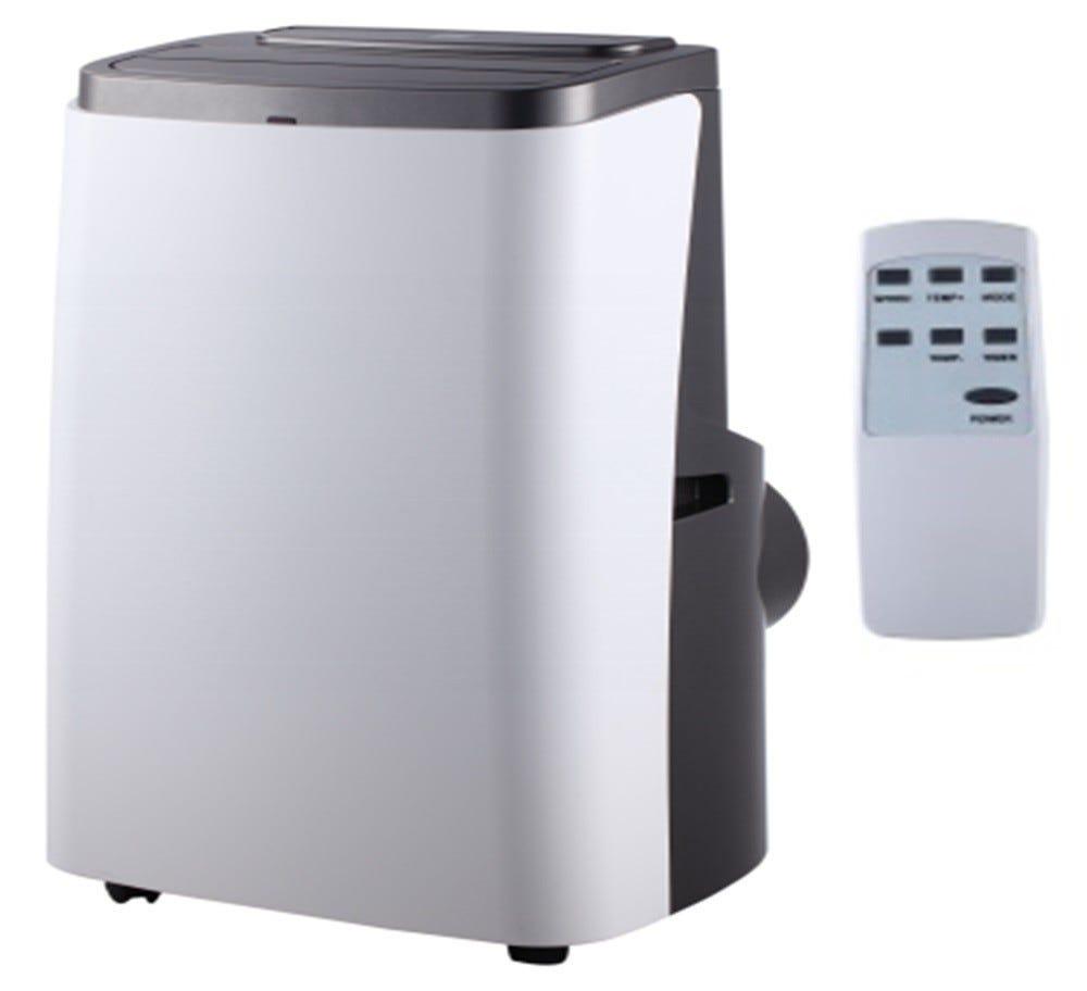 condizionatore portatile zephir 12000 btu classe a/a pompa di calore eer 2,61 cop 2,3