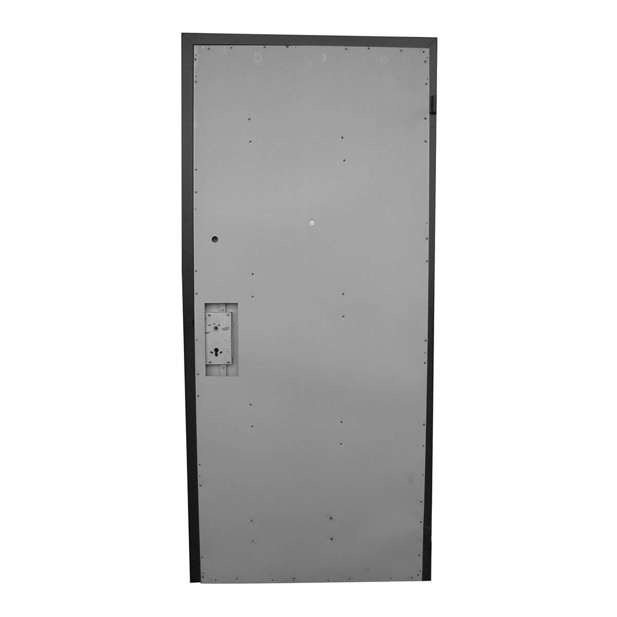Porta Blindata Naked Doppio Cilindro Apertura Spinta A Sinistra 210x90 Cm (Hxl) Classe 3