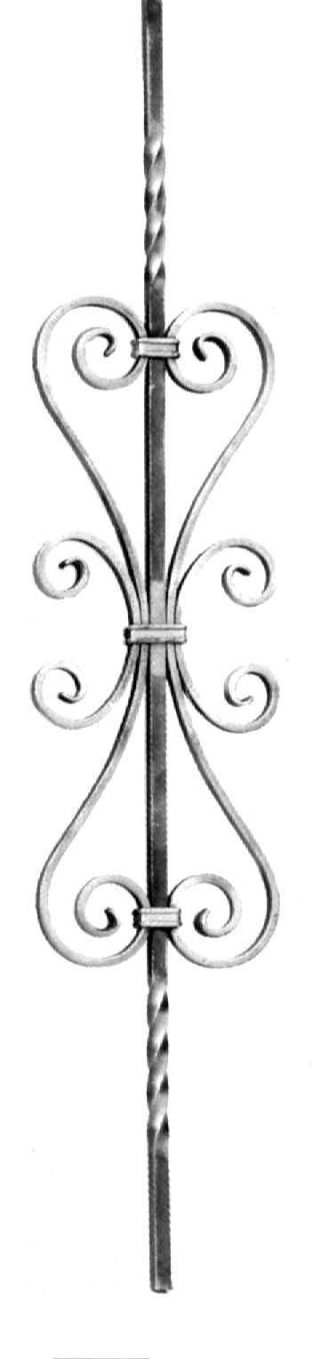 pro_metal_design modulo ferro verticale quadro 12 mm 180x900 mm per cancelli e recinzioni
