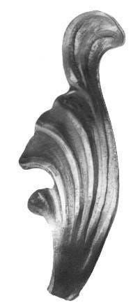 pro_metal_design foglie in ferro sinistra 40x110 mm spessore 3 mm 100 pezzi