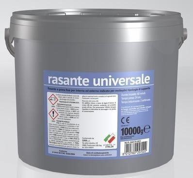 CIPIR Rasante Universale In Polvere Secchiello 10 Kg Grigio Grana Fine Interno Esterno