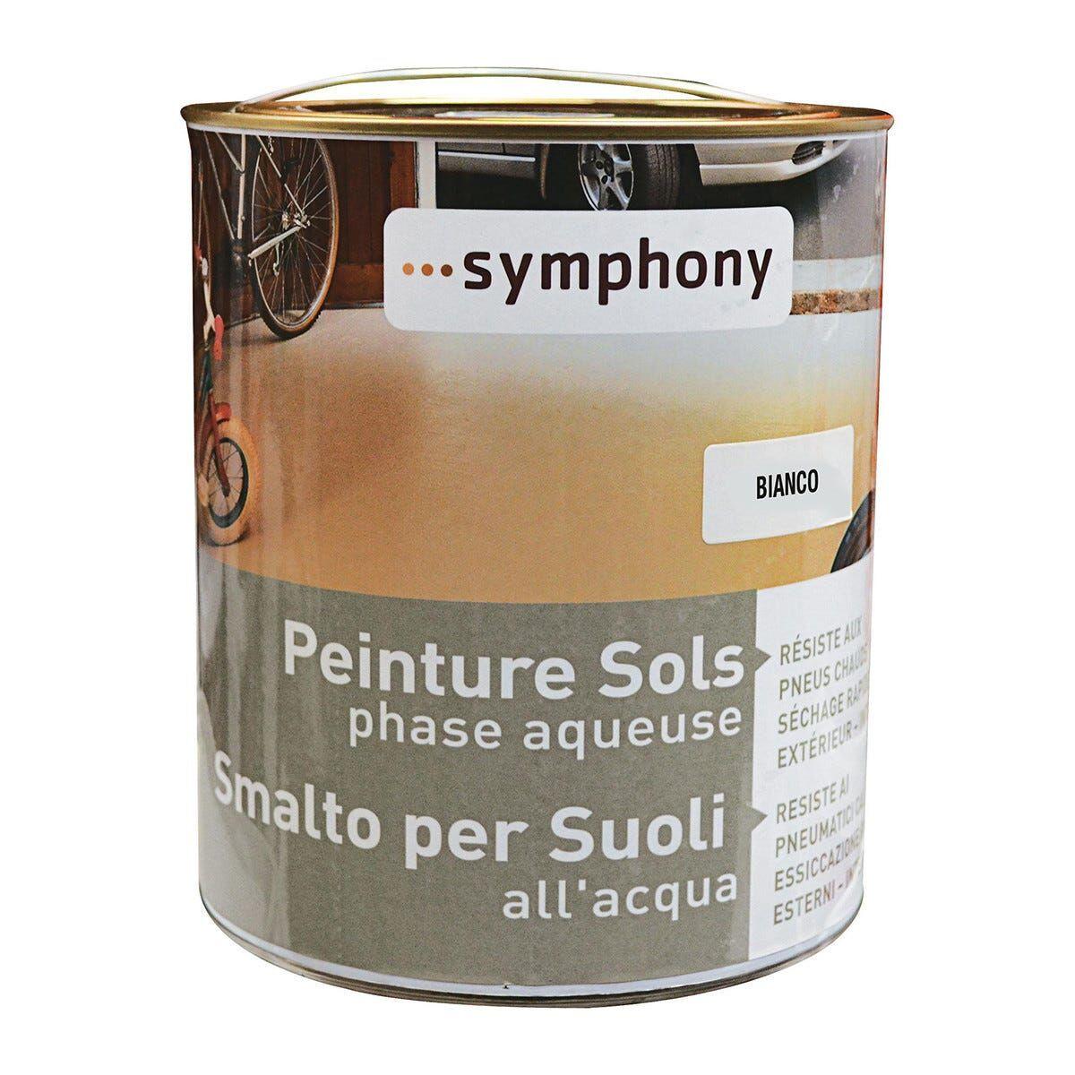 Smalto Per Suoli Acqua Symphony Bianco Scuro 2,5 L Cemento Legno Cls 10m² Con 1l Pronto Uso
