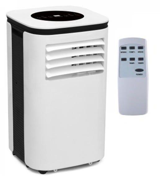 condizionatore portatile zephir 9000 btu classe a/a pompa di calore eer 2,61 cop 2,3