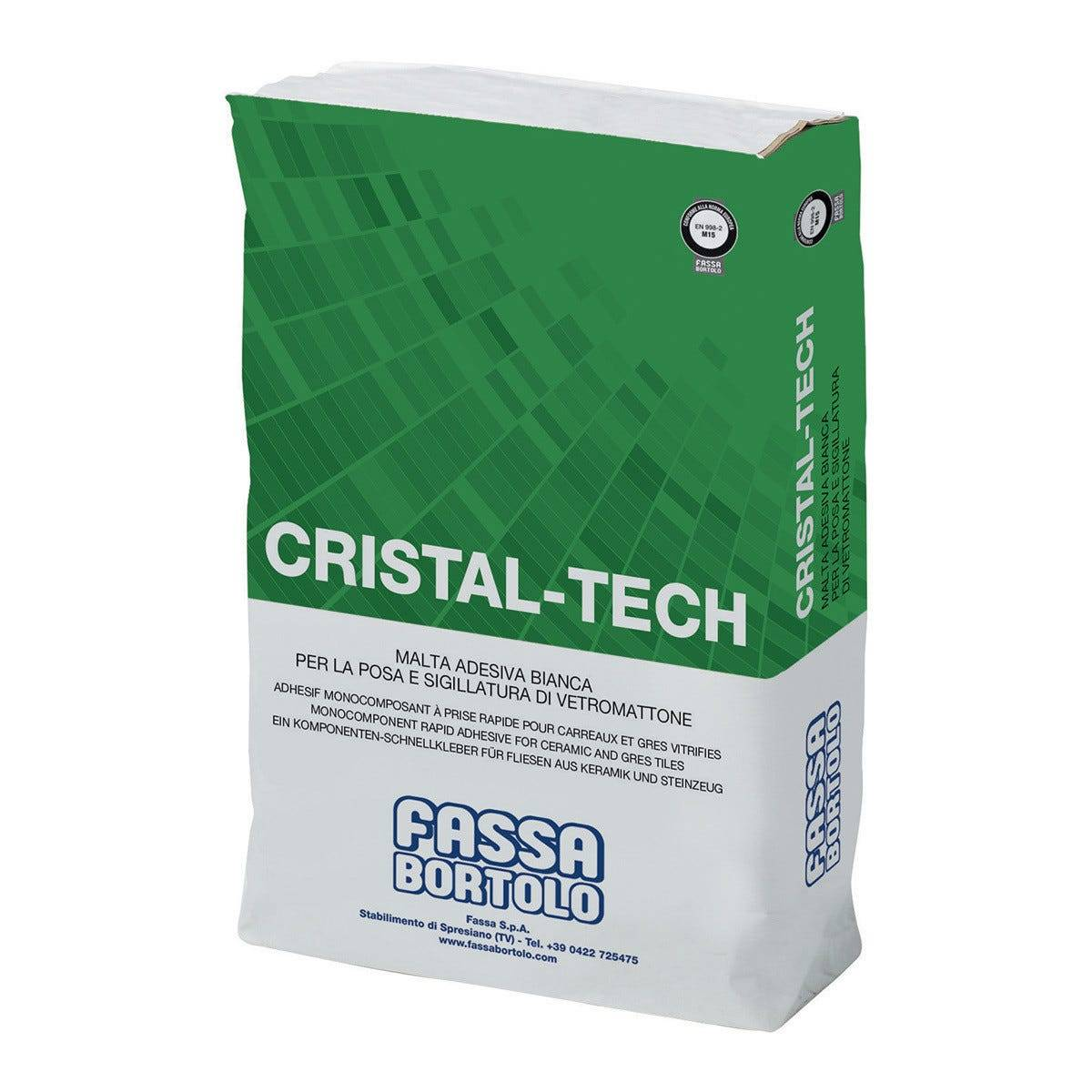 Colla Per Vetromattone Cristal-Tech Fassa 25 Kg