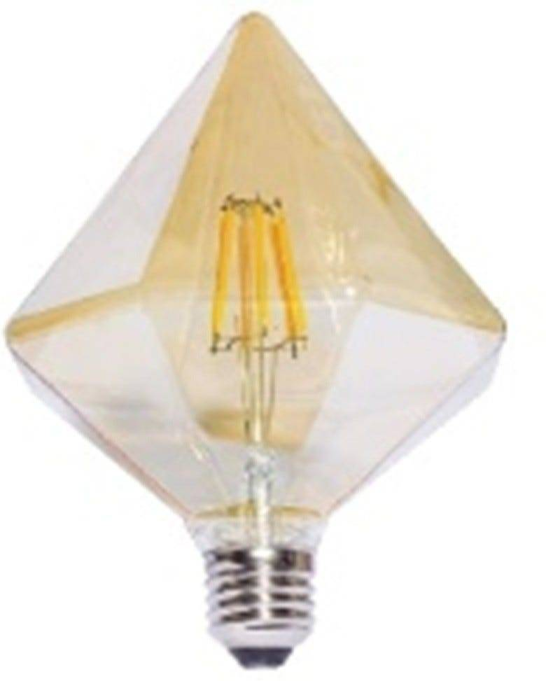 Lampadina Led Rombo E27 6w=50w Ambrata 580 Lumen 2200k Luce Calda Classe Energetica A+