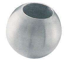pro_metal_design sfera Ø 25 mm inox aisi 316 con foro Ø 12,5 mm