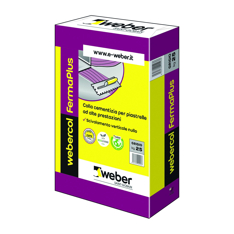 weber colla fermaplus weber grigio 25 kg c2te