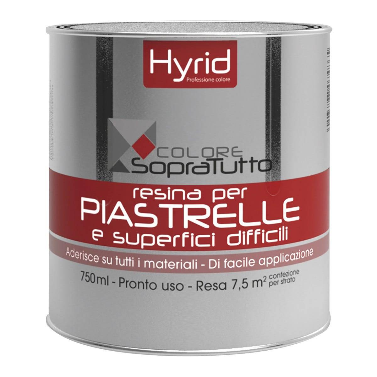 HYRID BY COVEMA Resina Piastrelle Hyrid Nero 750 Ml Per Superfici Difficili 10 M²  Con 1 L Pronto Uso