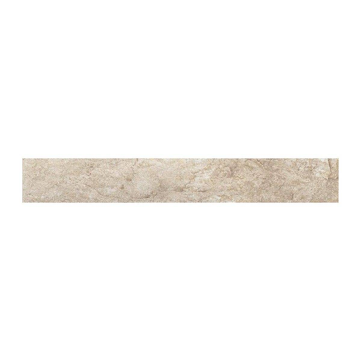 Battiscopa Pietra Panna 7,5x60x0,8 Cm 10 Pezzi Pei3 Gres Porcellanato