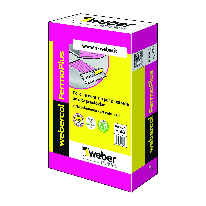 weber colla fermaplus weber bianca 25 kg c2te
