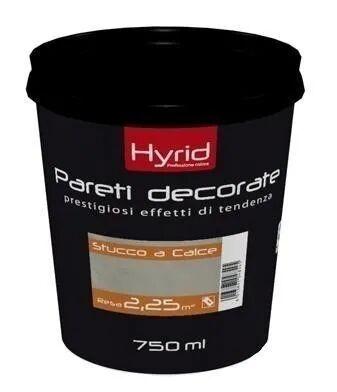 HYRID BY COVEMA Finitura Base Stucco A Calce Hyrid Bianco 0,75 L All'Acqua 3 M² Con 1 L A 3 Mani