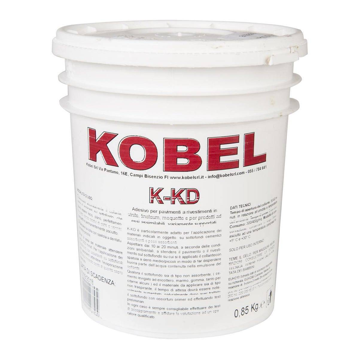 Collante Acrilico K-Kd Pvc Kobel 850 G Incolla Linoleum Gomma Moquettes Agugliati Feltro