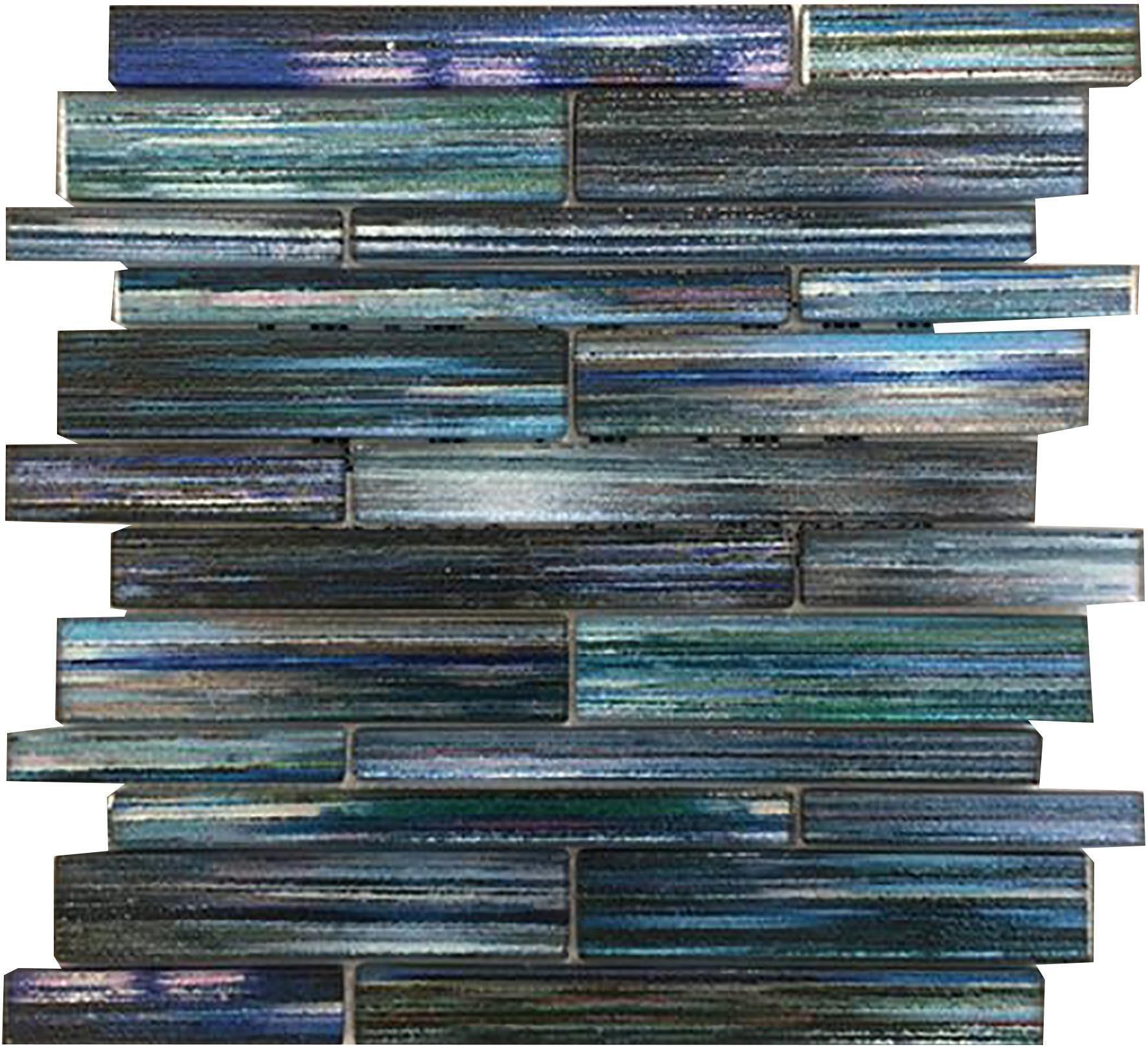 Mosaico Bracciano Vetro Fuso Con Stampa Digitale Ad Alta Tem Foglio 29x30x0,8 Cm