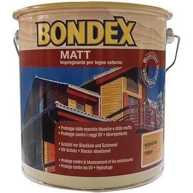 Impregnante Solvente Bondex Matt 0,75 L Incolore Pronto All'Uso 10-16 M² Con 1 L