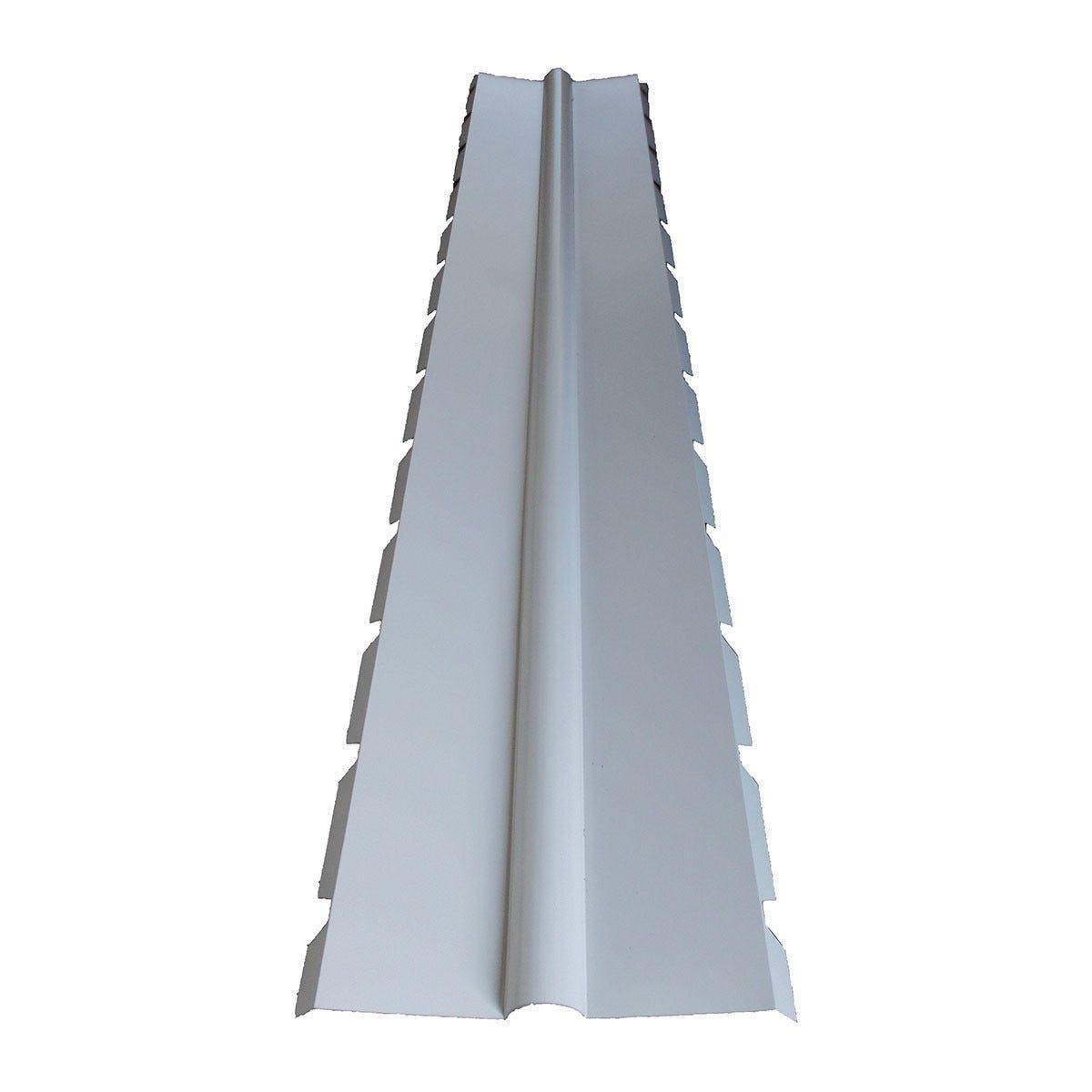 Colmo A 2 Falde Per Lamiera 3,25 M Grecata Coibentata Color Bianco