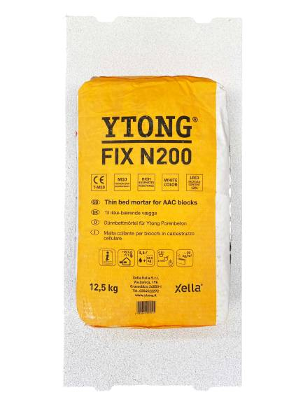 Collante Ytong Fix N200 Per Blocchi Ytong Gasbeton Bianco 12,5 Kg