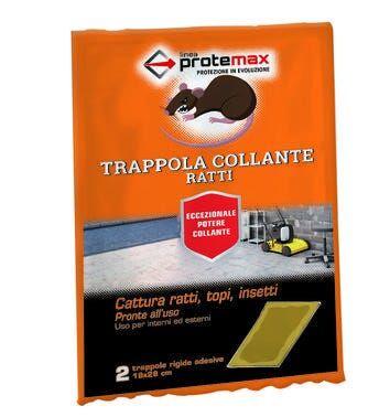 maxi trappole collanti protemax per topi pronte all'uso 2 pezzi