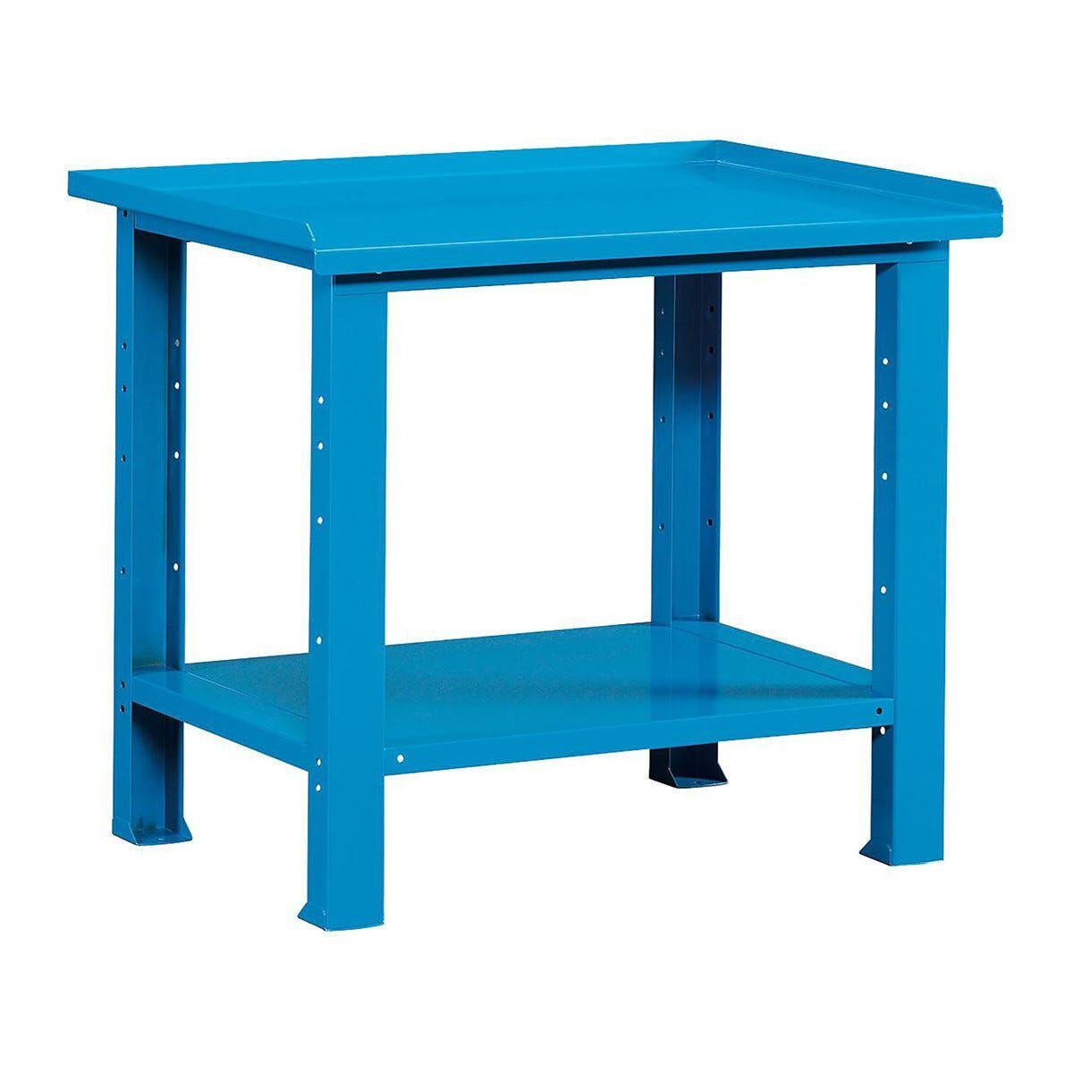 banco da lavoro 103,1x70,5x85,5 cm smontato piano in acciaio colore blu (lxpxh)