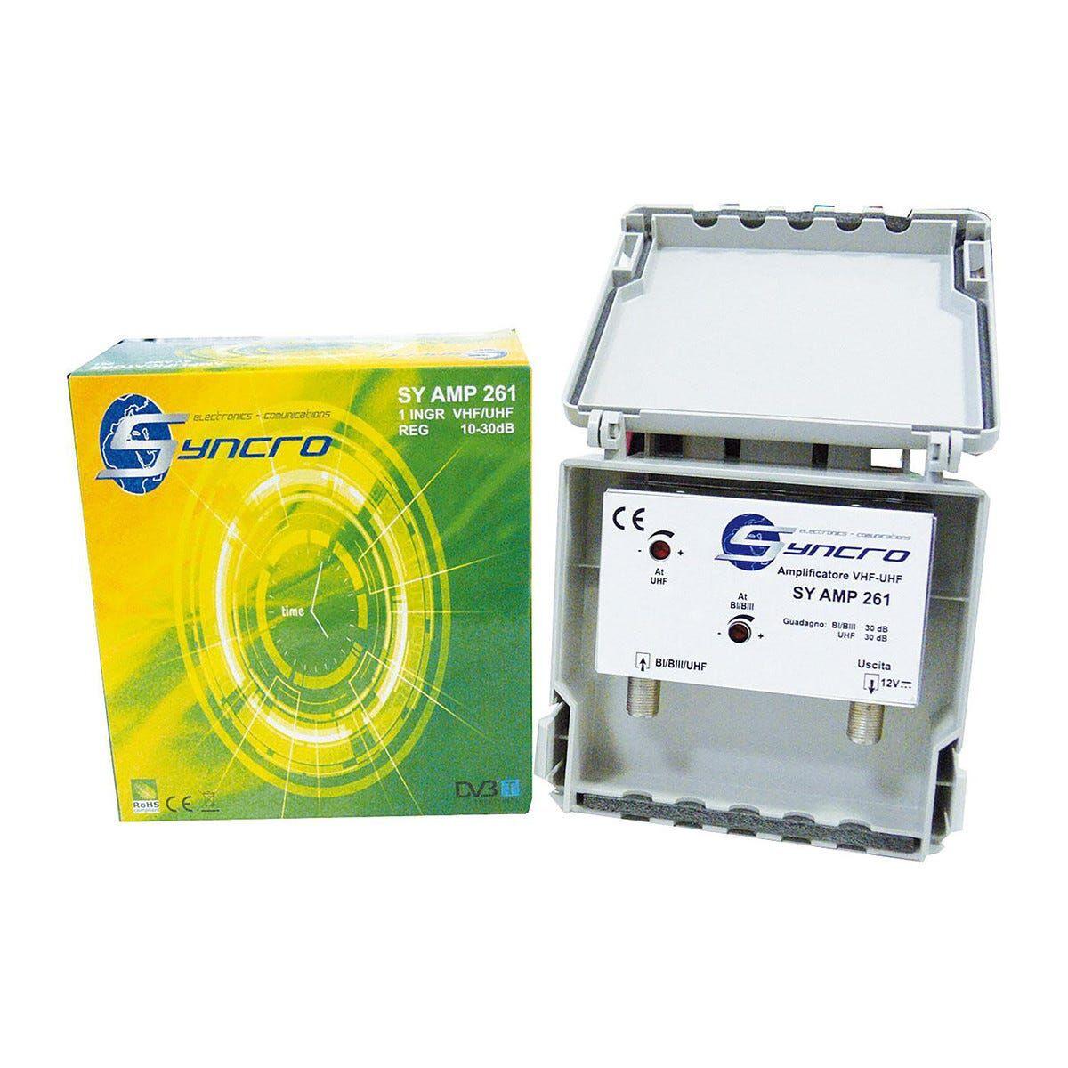Amplificatore Da Palo 1 Ingresso Frequenze 174 - 790 Mhz 28 Db