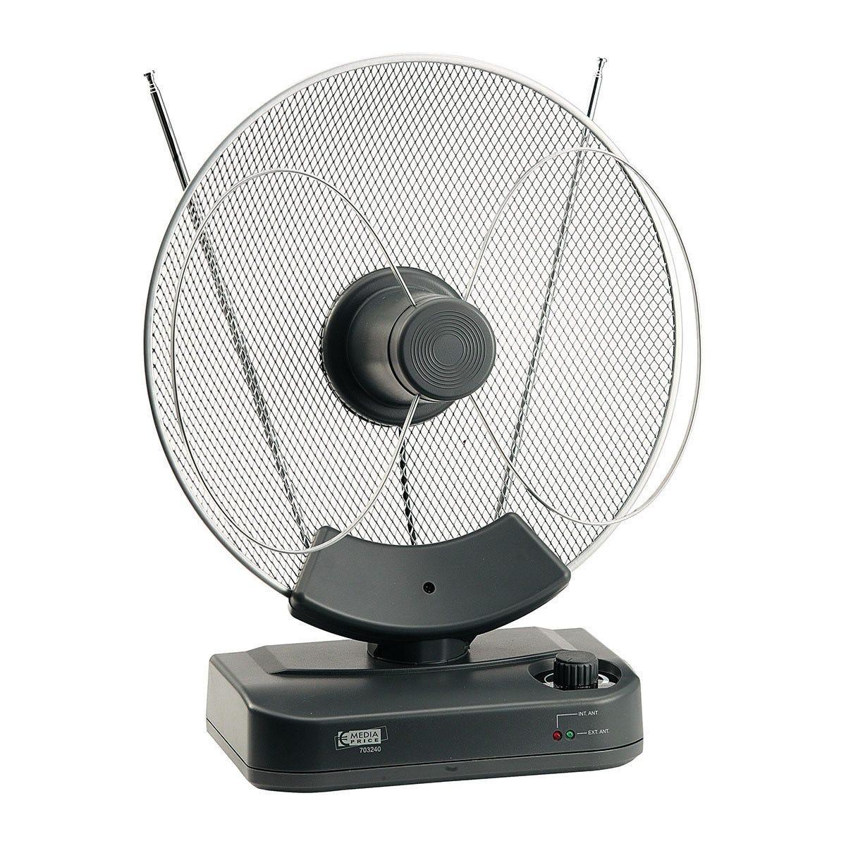Antenna Da Interno Uhf / Vhf / Fm Guadagno 25 Db Ruota 300° Riceve Segnali Digitali