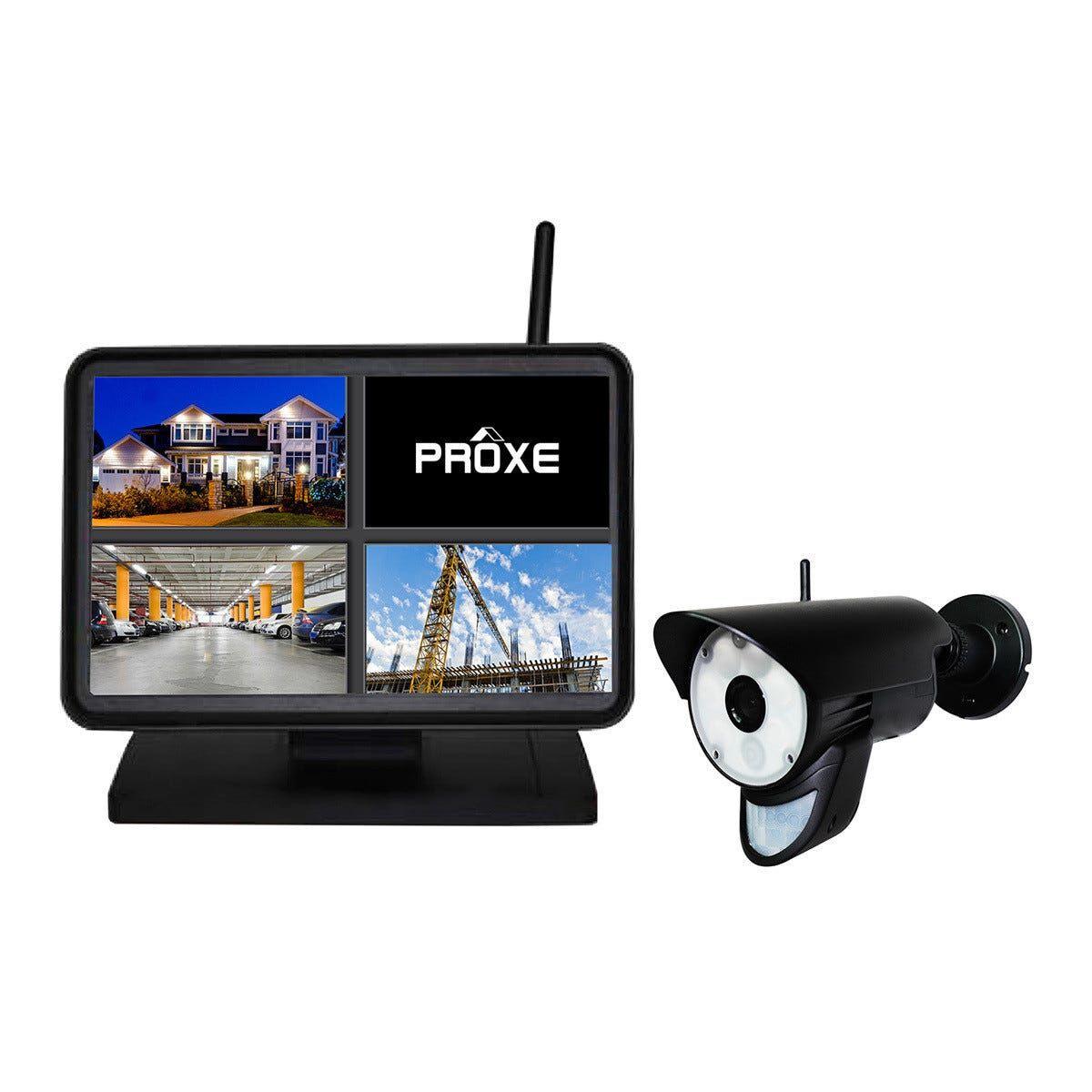 PROXE Kit Tvcc  Senza Fili Digitale Con Telecamera Esterno A Colori Con Luce