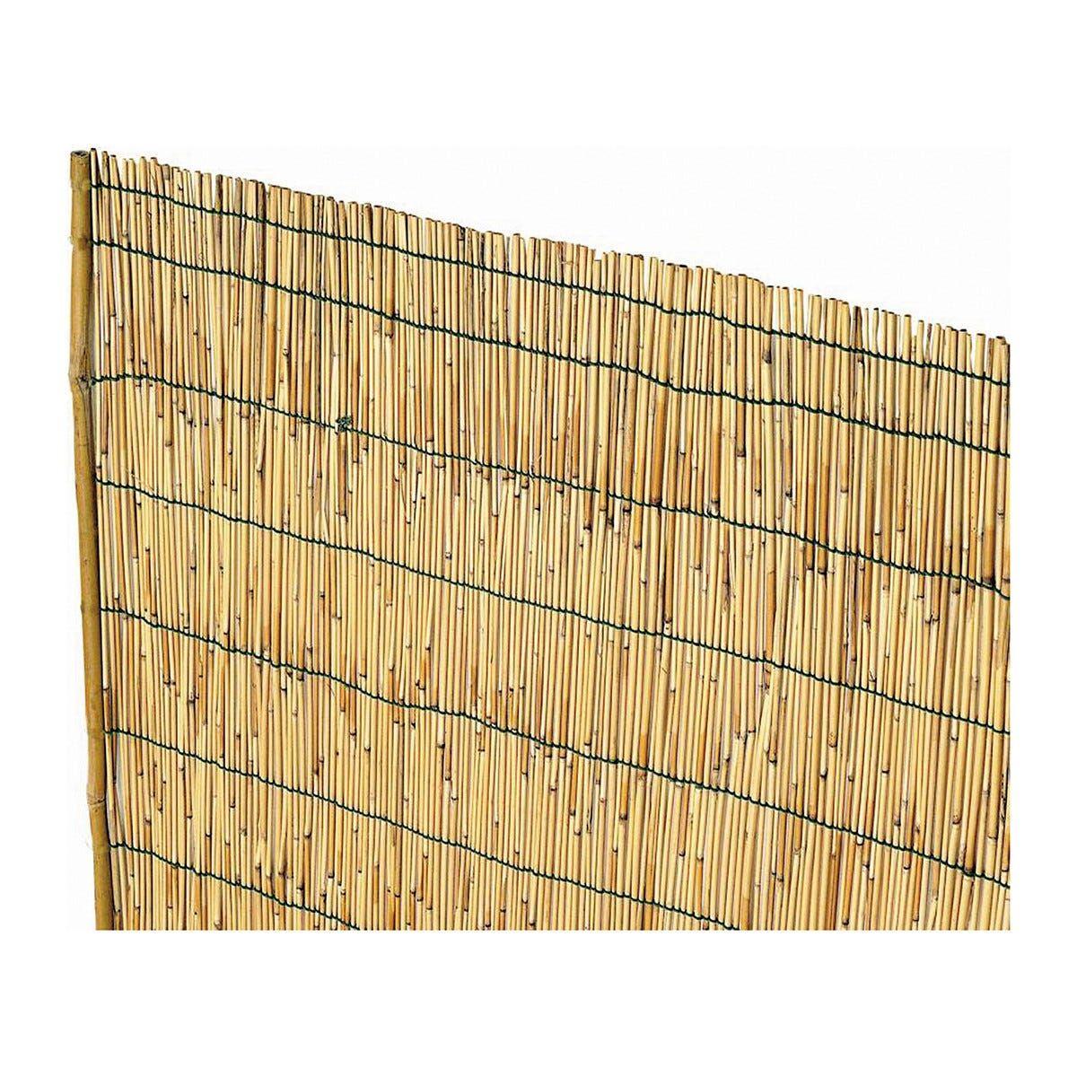 Arella In Cannette Di Bambu' Pelato 3x5m Ø Circa 4-5 Mm Con Filo Nylon Prodotto Naturale