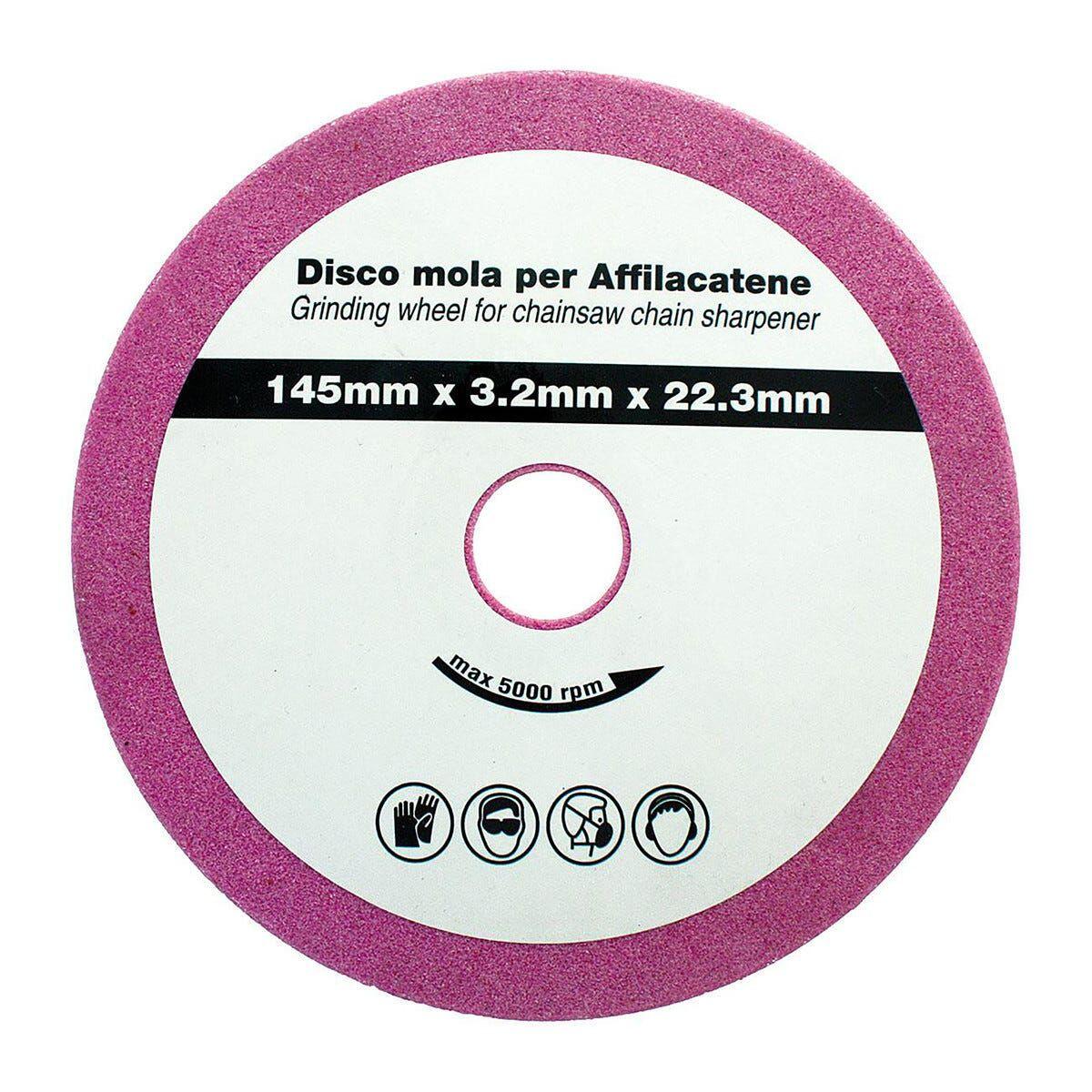 Mola Ricambio 145x4,7x23 Mm Per Affilacatene Professionale