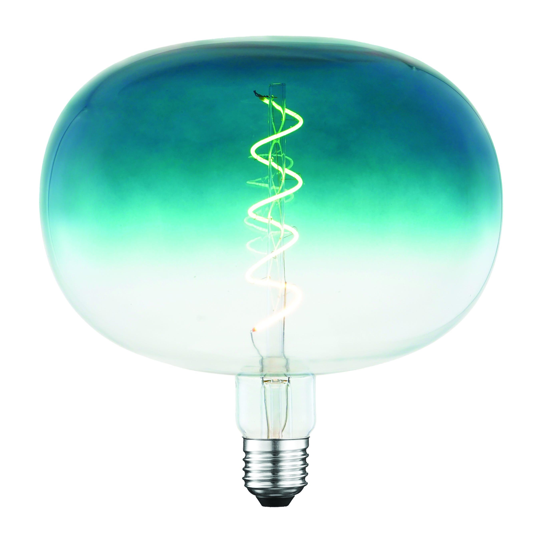 Lampadina Led Suprema Semiglobo E27 4w 4w=14w 120 Lumen 2200k Luce Calda Blu Degrade'