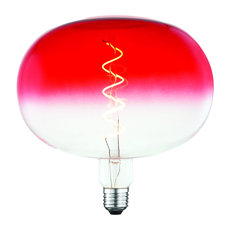 Lampadina Led Suprema Semiglobo E27 4w=14w 120 Lumen 2200k Luce Calda Rosso Degrade'