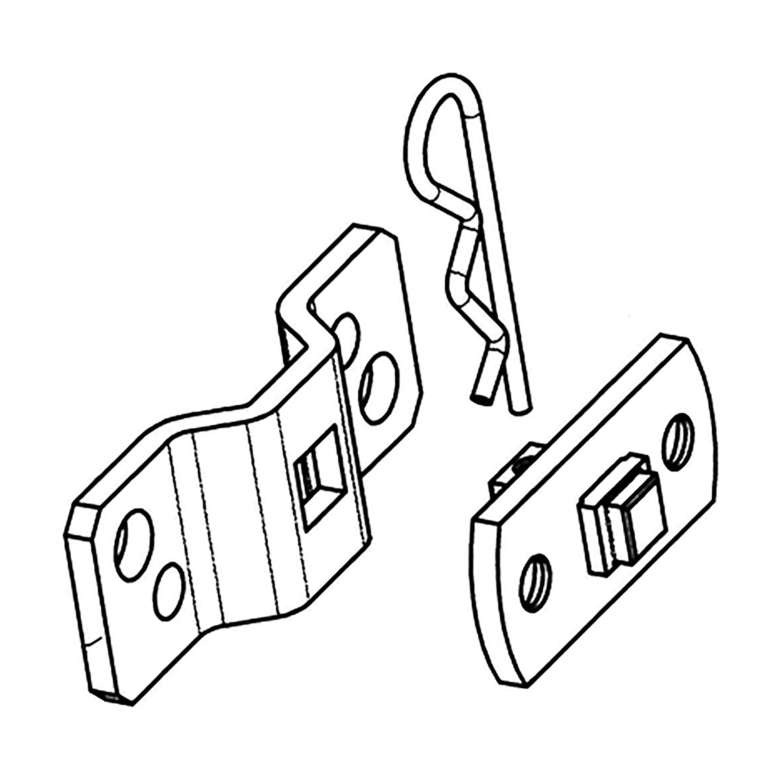 go_matic staffa perno quadro interasse 48/60 mm con culla per motori con manovra soccorso