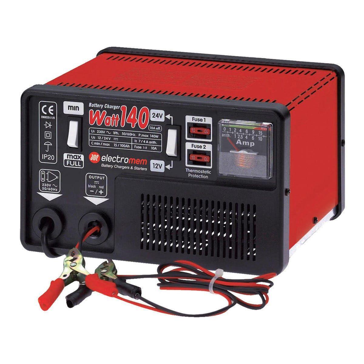 caricabatterie manuale per auto 12/24 v veicoli commerciali furgoni corrente carica 12 a o 6 a