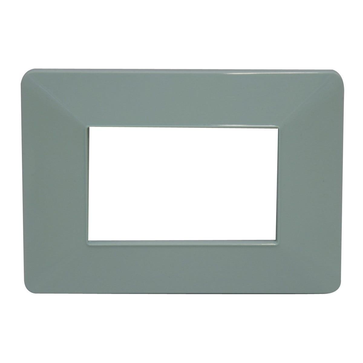 kalos placca in tecnopolimero  3 moduli color verde pastello