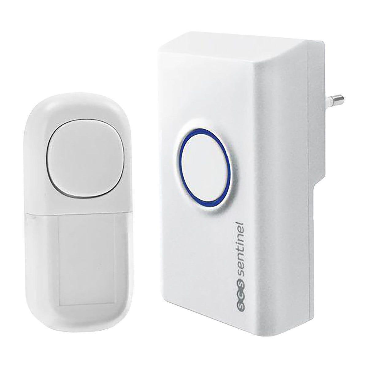 scs_sentinel campanello senza fili e pile 80m 230v pulsante senza batterie