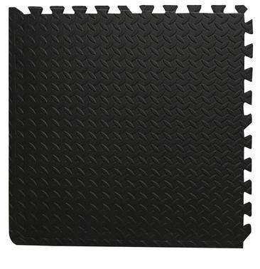 Tappetino In Gommapiuma Antiurto Puzzle 620x620x10 Mm Multiuso Antracite