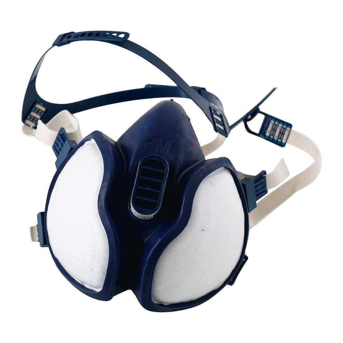 3m semimaschera facciale  4251 con filtri a1p2 usa e getta verniciatura a spruzzo