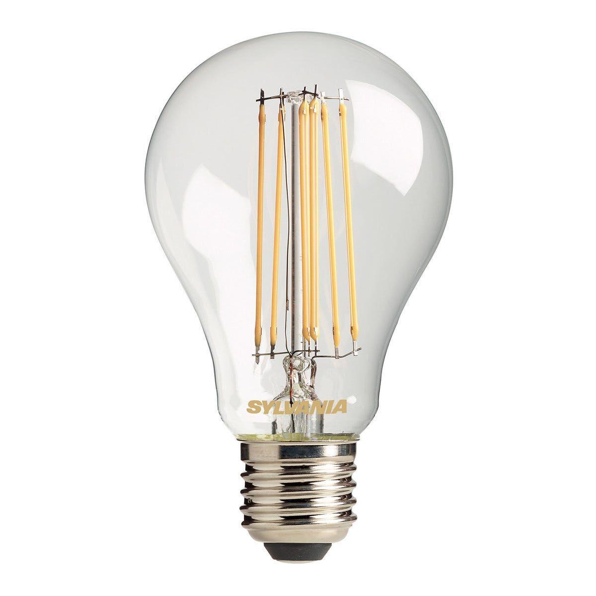 feilo_sylvania lampadina sylvania led filamento goccia e27 11w=100w 1531 lumen 2700k luce calda Ø60x104mm