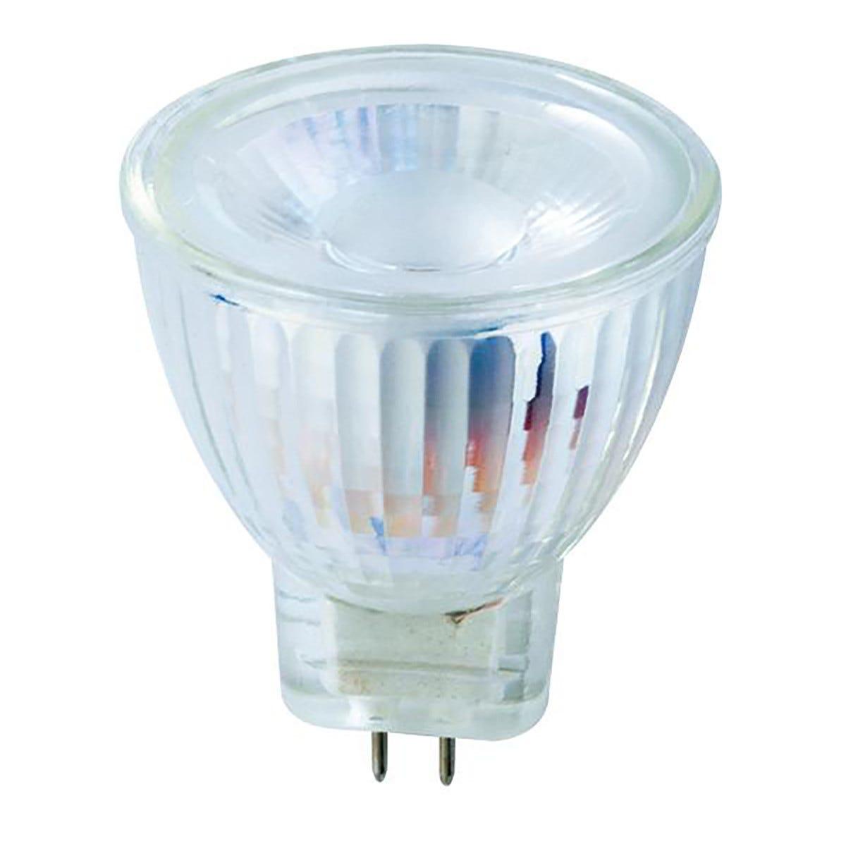parko 2 lampadine  led mr11 gu4 3w=24w 240 lumen 3000k luce calda Ø 34x40 mm