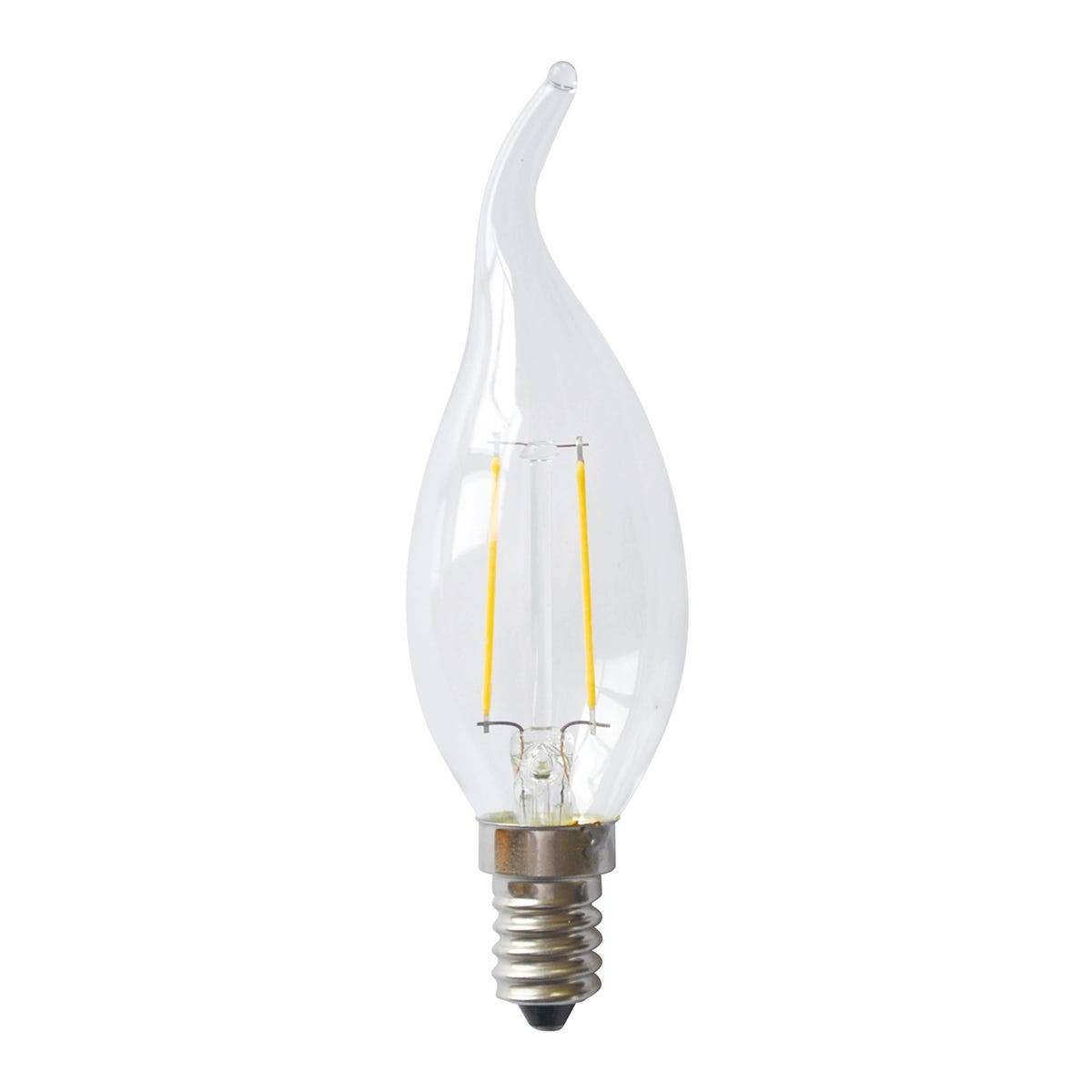 3 Lampadine Vivida Led Fiamma E14 2w=21w 220 Lumen 3000k Luce Calda  Ø35x120 Mm