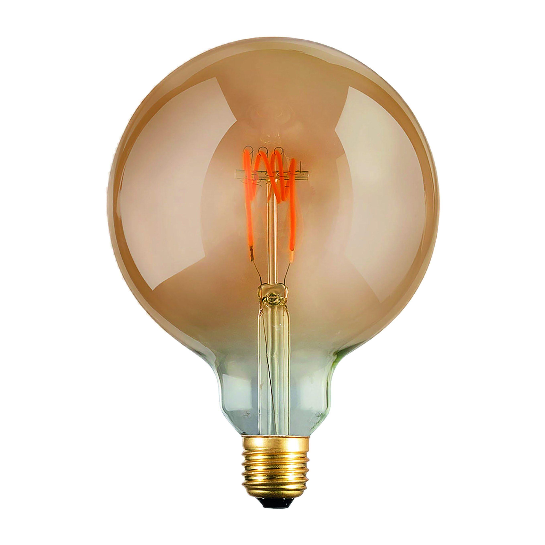 Lampadina Led Vintage E27 4w Dimmerabile 200 Lumen 2200k Luce Calda Globo Ambrata