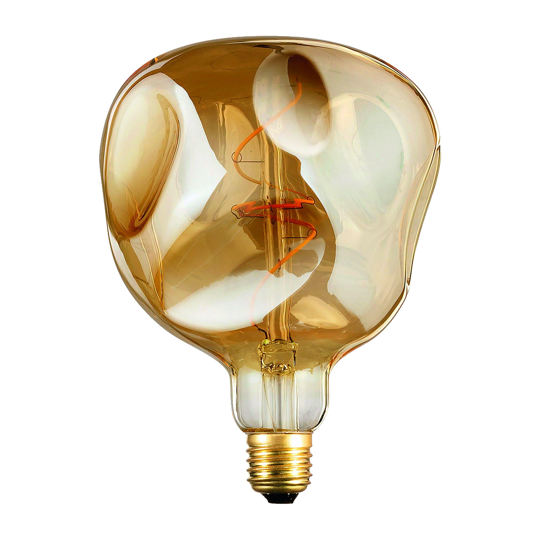 Lampadina Led Vintage E27 4w Dimmerabile 200 Lumen 2200k Luce Calda Alien Ambrata
