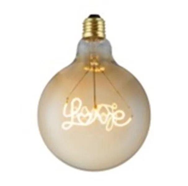 Lampadina Led Vintage Love E27 4w 200 Lumen 2200k Luce Calda Dimmerabile Ambrata