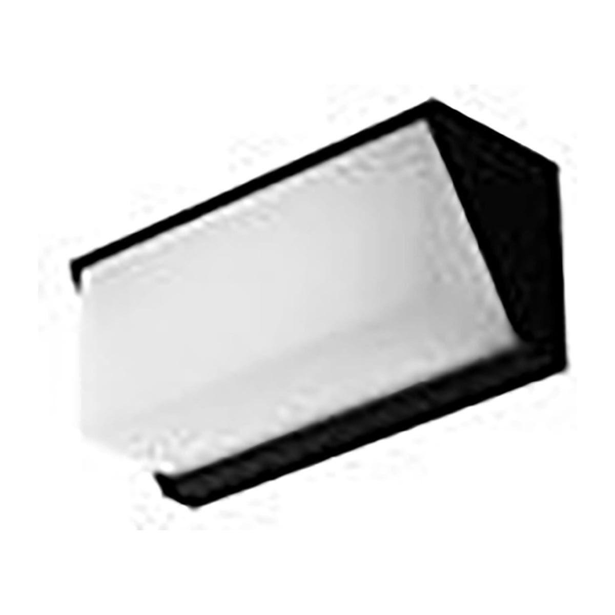 Applique Luxon Led12w 750lm4000k Allumin Antracite Diffusore Pc Ip54 110x250x95mm