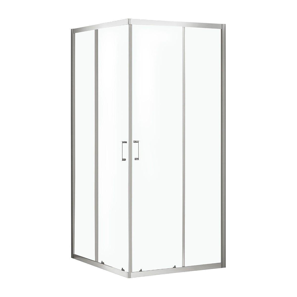 box doccia perloz 70x90 h 190 cm vetro temperato trasparente 6 mm profili cromati
