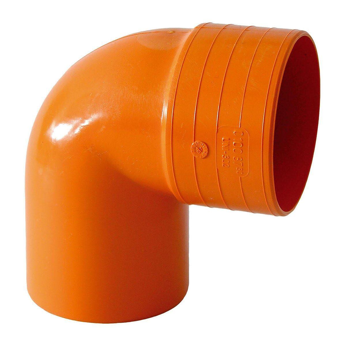 curva 87° Ø 125 mm pvc arancio
