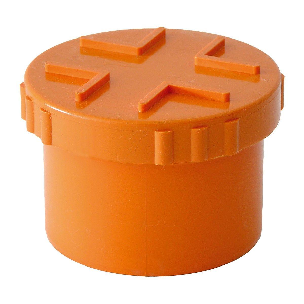 tappo a vite Ø 125 mm pvc arancio